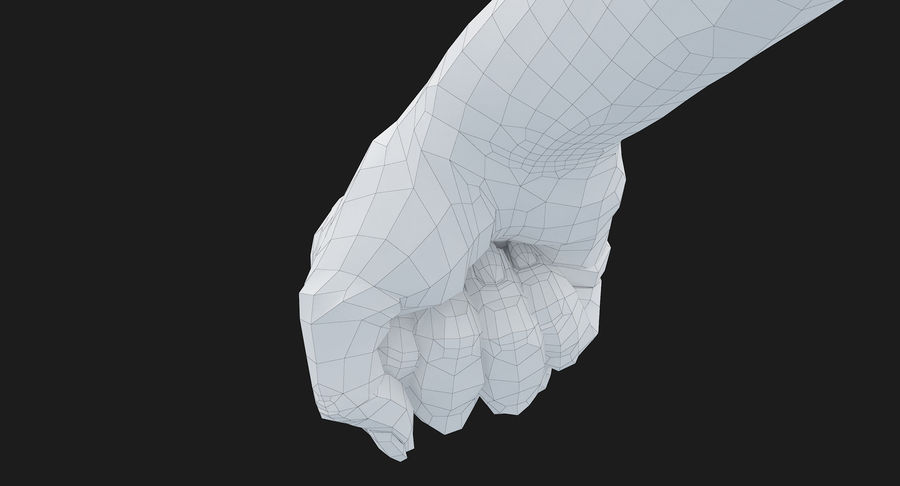 Female Arm A (Pose D Textured) Fist royalty-free 3d model - Preview no. 48