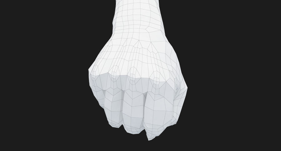 Female Arm A (Pose D Textured) Fist royalty-free 3d model - Preview no. 52