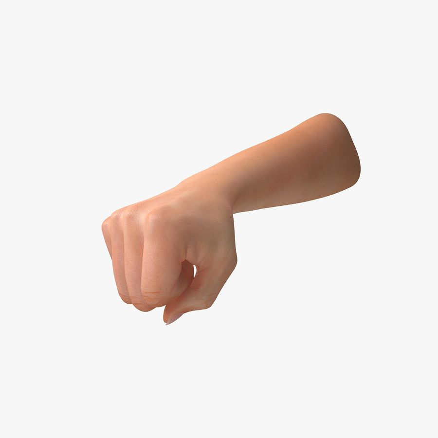 Female Arm A (Pose D Textured) Fist royalty-free 3d model - Preview no. 1