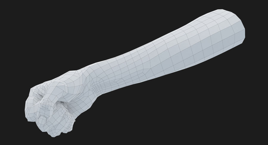 Female Arm A (Pose D Textured) Fist royalty-free 3d model - Preview no. 33