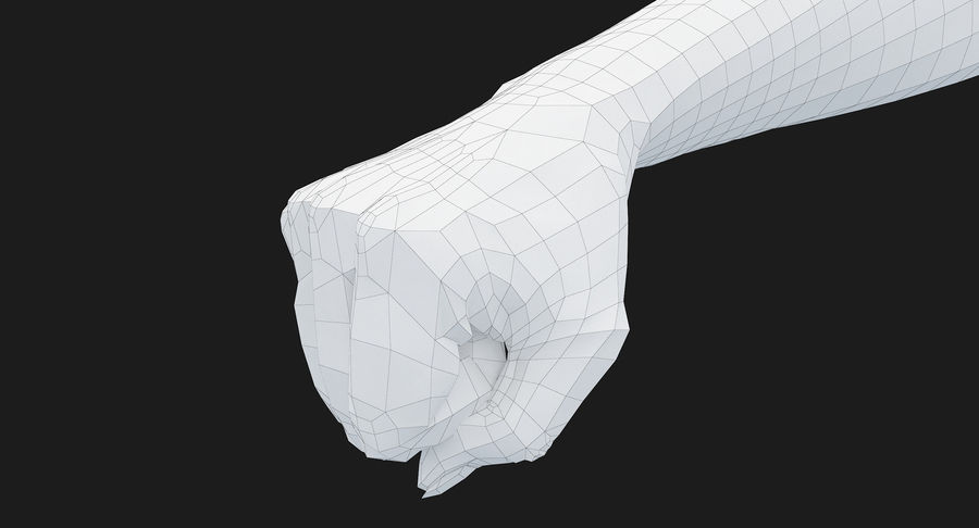 Female Arm A (Pose D Textured) Fist royalty-free 3d model - Preview no. 51