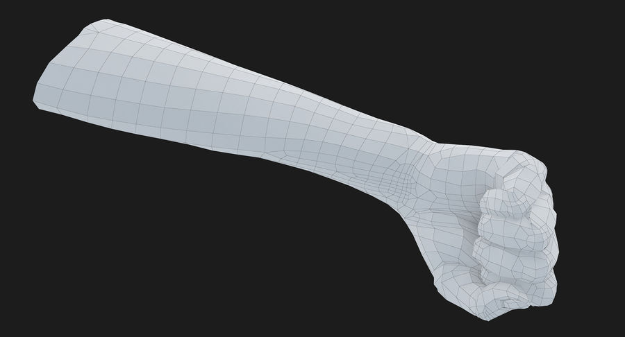 Female Arm A (Pose D Textured) Fist royalty-free 3d model - Preview no. 34