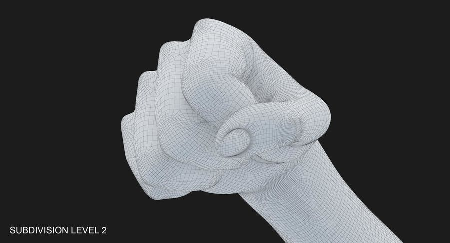 Female Arm A (Pose D Textured) Fist royalty-free 3d model - Preview no. 41