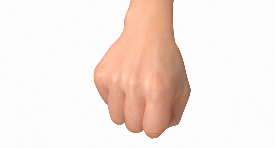 Female Arm A (Pose D Textured) Fist royalty-free 3d model - Preview no. 16