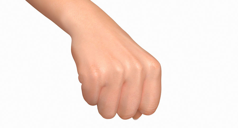 Female Arm A (Pose D Textured) Fist royalty-free 3d model - Preview no. 26