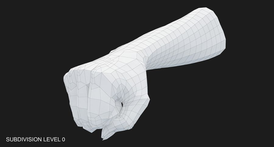 Female Arm A (Pose D Textured) Fist royalty-free 3d model - Preview no. 30