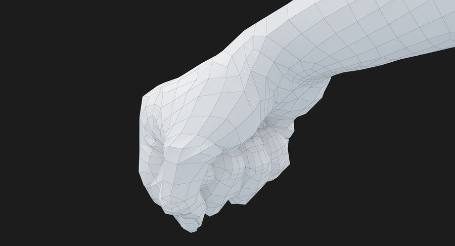 Female Arm A (Pose D Textured) Fist royalty-free 3d model - Preview no. 49