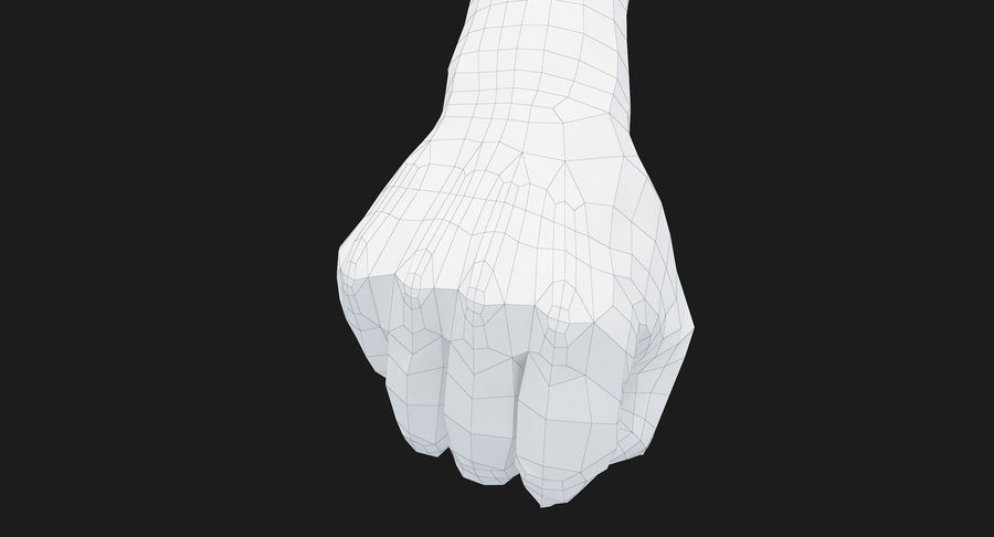 Female Arm A (Pose D Textured) Fist royalty-free 3d model - Preview no. 42