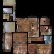 유령의 집 인테리어 3d model