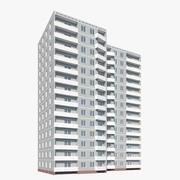 14 våningar bostadspanelbyggnad 3d model