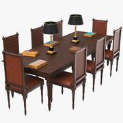 도서관 테이블 3d model