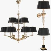 Collezione di lampade contemporanee 3d model
