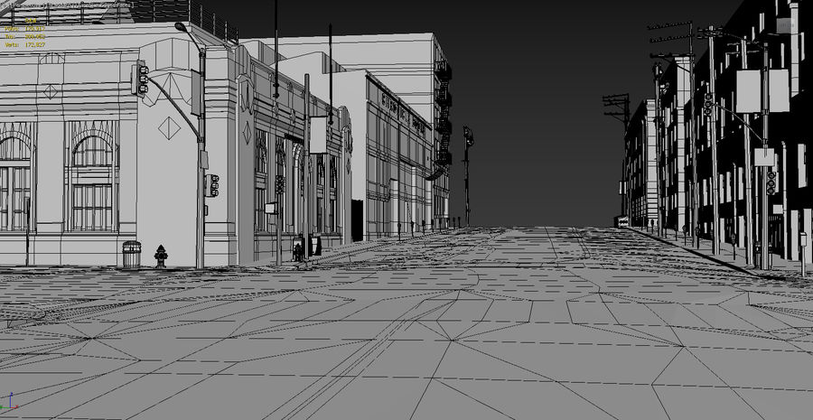 Calle de la ciudad royalty-free modelo 3d - Preview no. 12