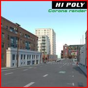 Calle de la ciudad modelo 3d