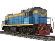 ソビエトディーゼル機関車TEM-2 3d model