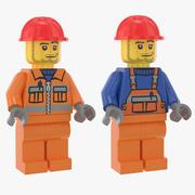 Trabalhadores da Construção Lego 3d model