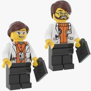 Lego Man en vrouw wetenschapper 3d model