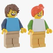 Lego Mężczyzna i kobieta na co dzień 3d model