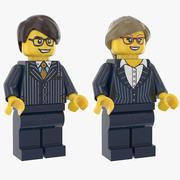Dirigente Lego Uomo E Donna 3d model