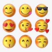 Emoji Pack 2 (10-18) 3d model
