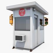 Cabina de cabina de seguridad portátil modelo 3d