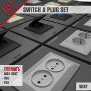 SWITCH & PLUG SET 3d model