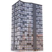 Modern Apartment Building 7 3d model