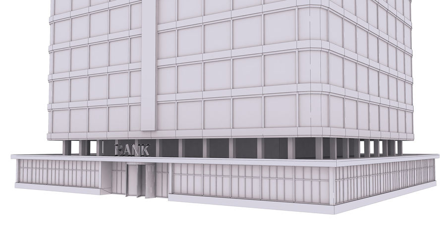 Bank royalty-free 3d model - Preview no. 14