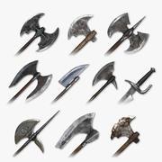 Paquete de armas de corte medieval modelo 3d