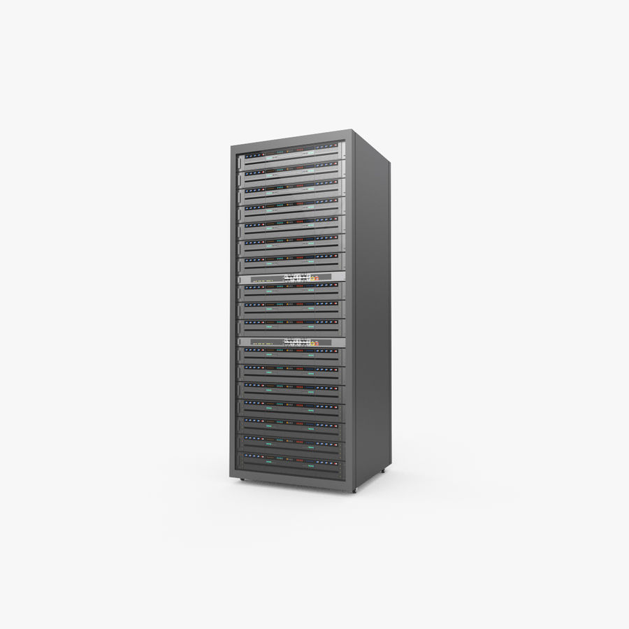 Server Rack Data Center royalty-free 3d model - Preview no. 1