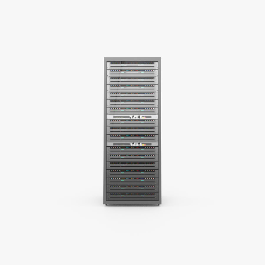 Server Rack Data Center royalty-free 3d model - Preview no. 3