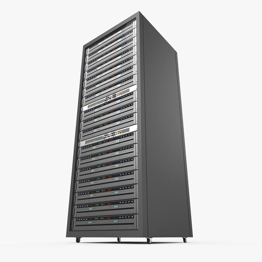 Server Rack Data Center royalty-free 3d model - Preview no. 5