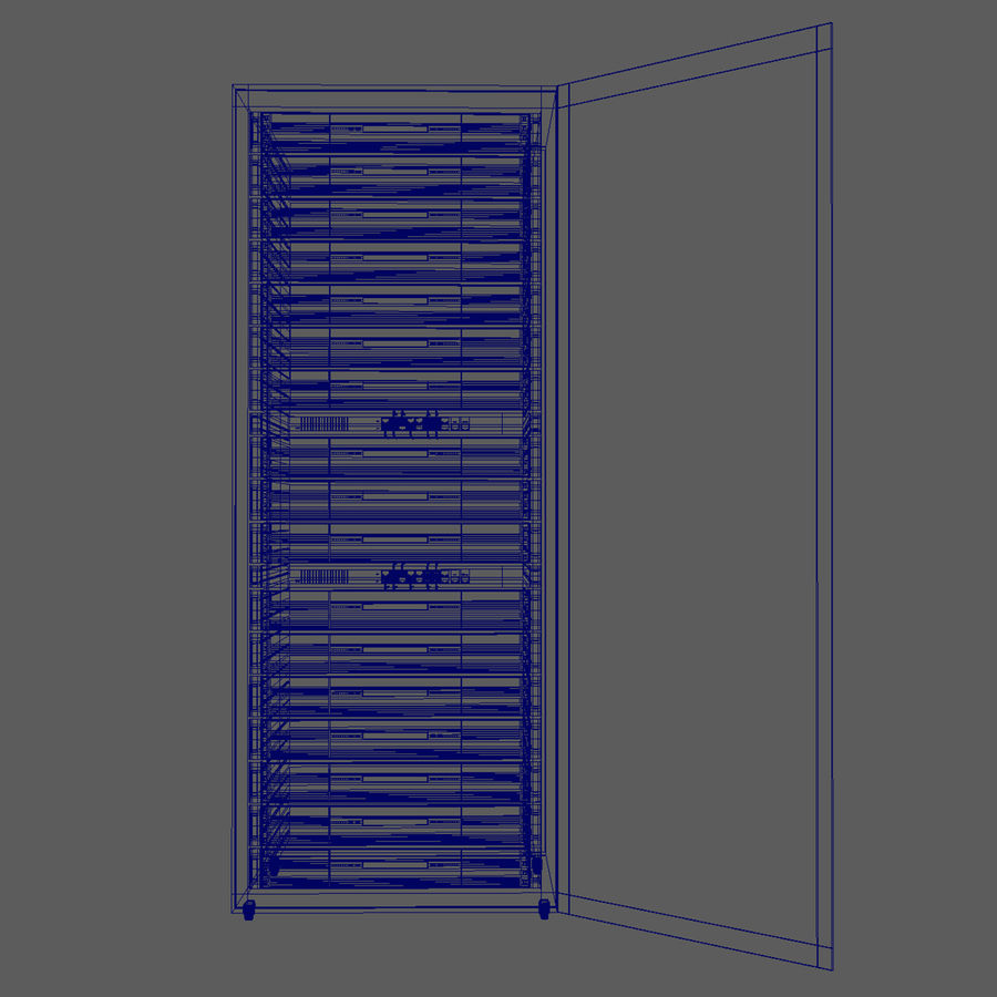 Server Rack Data Center royalty-free 3d model - Preview no. 11