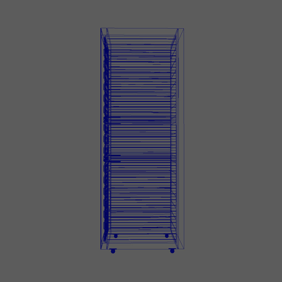 Server Rack Data Center royalty-free 3d model - Preview no. 12