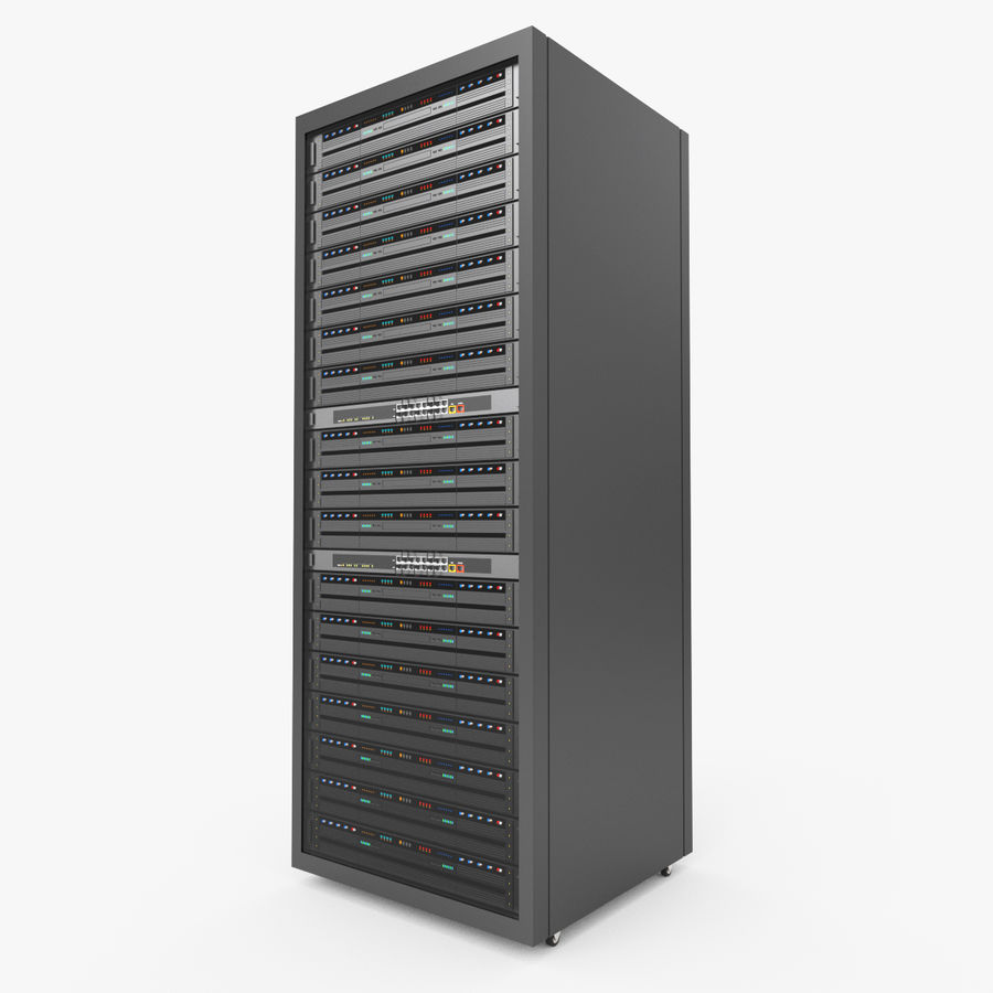 Server Rack Data Center royalty-free 3d model - Preview no. 4