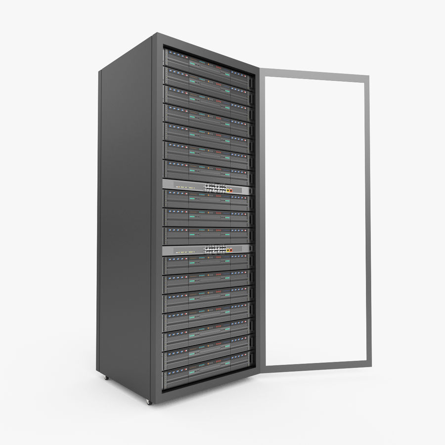 Server Rack Data Center royalty-free 3d model - Preview no. 7