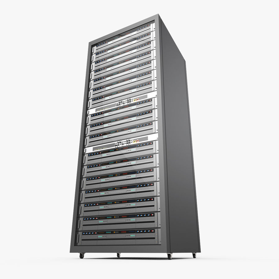 Server Rack Data Center royalty-free 3d model - Preview no. 6