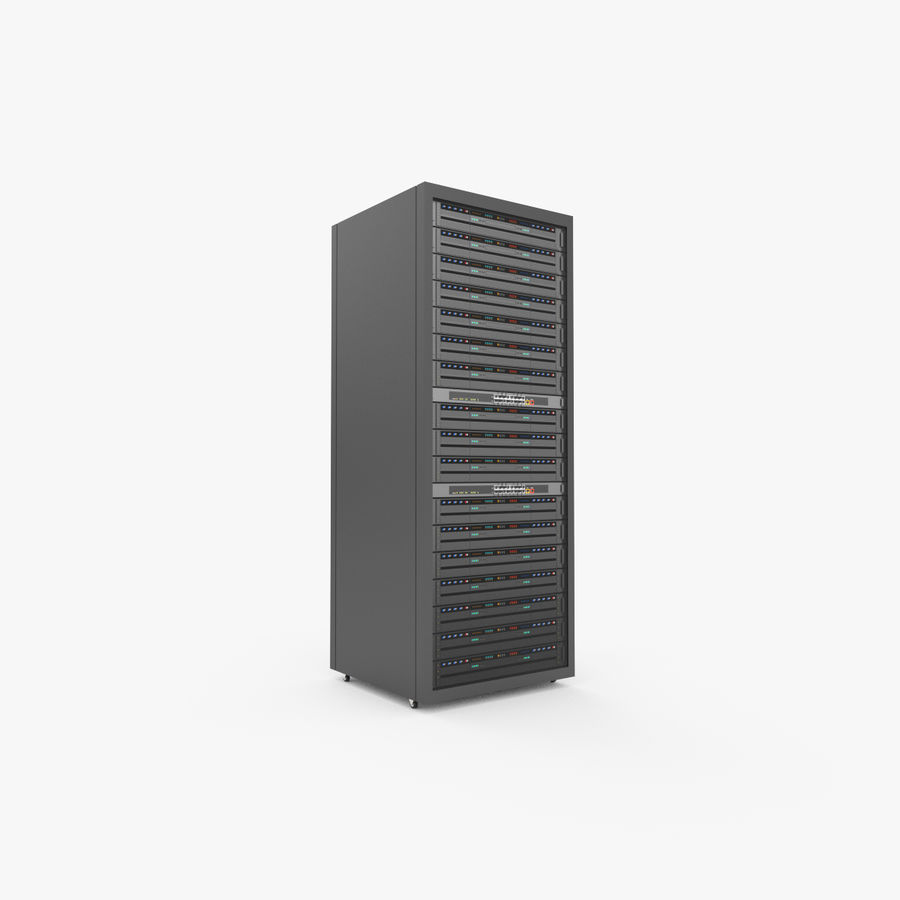 Server Rack Data Center royalty-free 3d model - Preview no. 2
