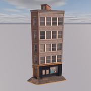 Edifício de canto tipo Nova York 3d model