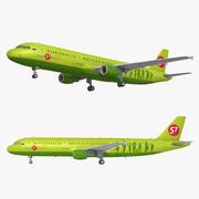 Companhias Aéreas de Airbus A321 S7 3d model