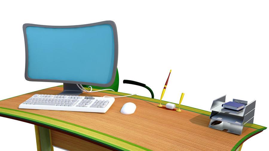mesa de ordenador royalty-free modelo 3d - Preview no. 3