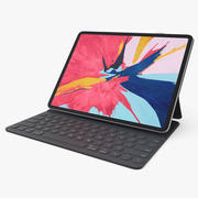 Apple iPad Pro 2019 with Smart Keyboard Rigged 3d model