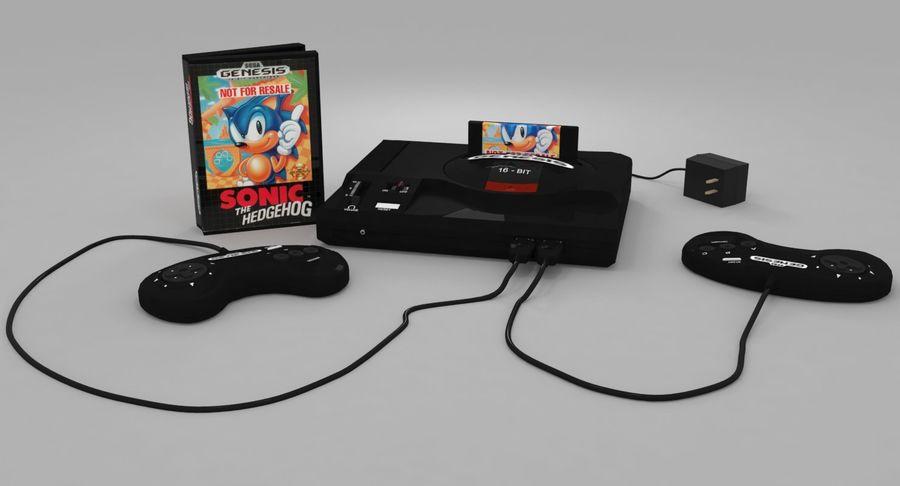 Sega Genesis royalty-free 3d model - Preview no. 2