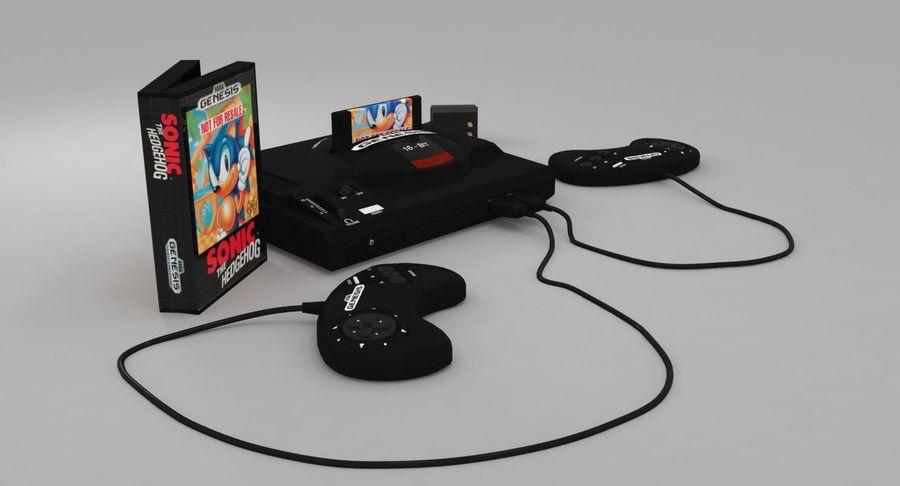 Sega Genesis royalty-free 3d model - Preview no. 8