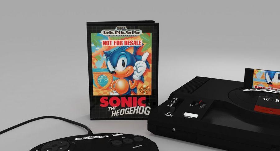 Sega Genesis royalty-free 3d model - Preview no. 12