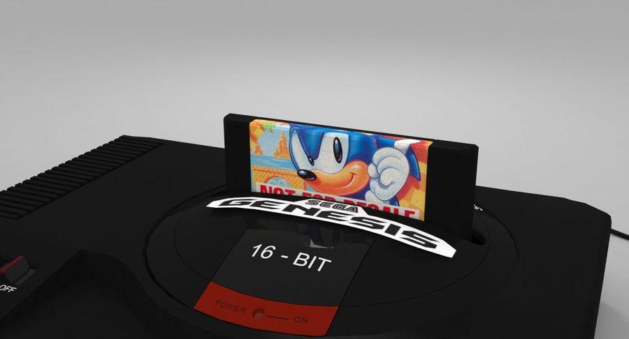 Sega Genesis royalty-free 3d model - Preview no. 13
