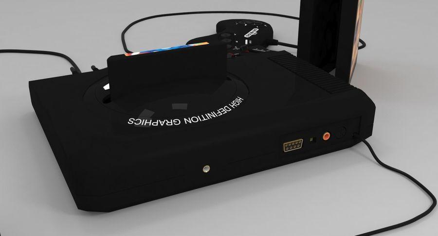 Sega Genesis royalty-free 3d model - Preview no. 11