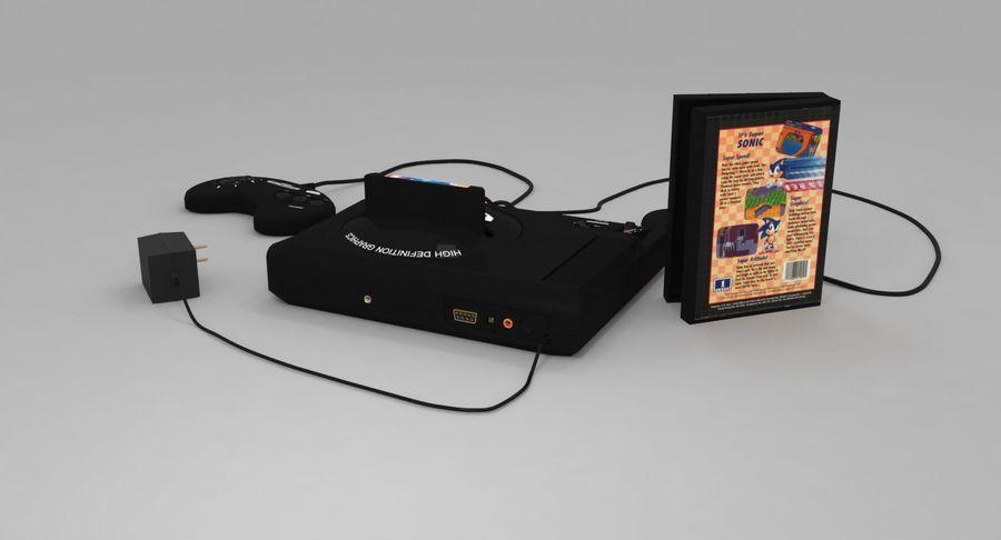 Sega Genesis royalty-free 3d model - Preview no. 6