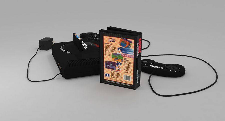 Sega Genesis royalty-free 3d model - Preview no. 7