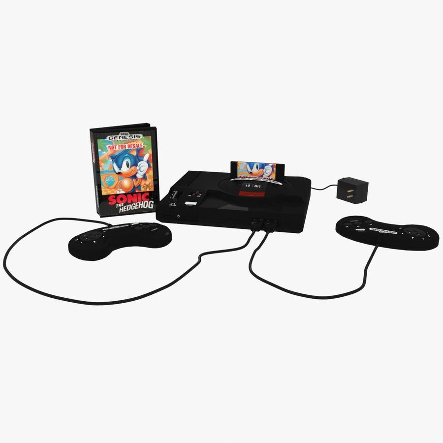 Sega Genesis royalty-free 3d model - Preview no. 1